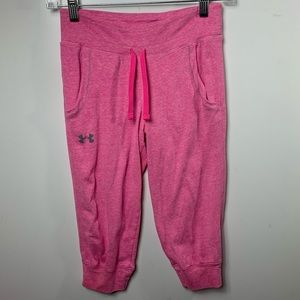 Under armour youth medium pink crop pants